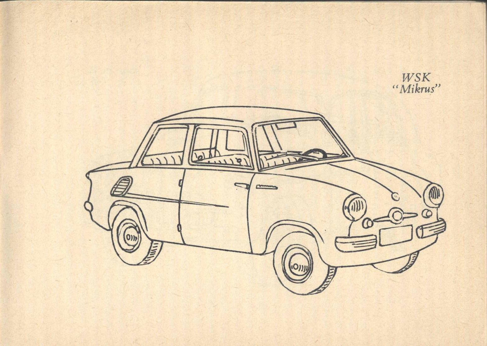 Mikrus Dla Najmlodszych Kolorowanki Motoryzacyjne Byl Sobie Mikrus